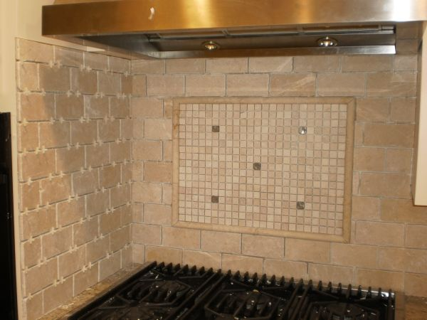 Marble Mosaic Picture Framed Backsplash