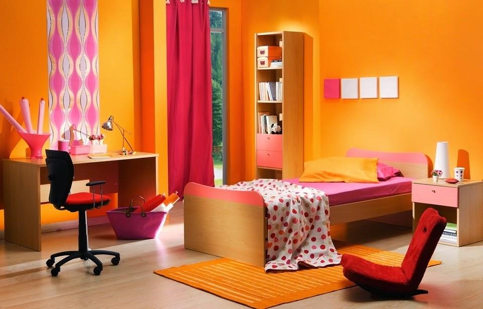 Dormitorios juveniles dormitorio naranja - Habitaciones color naranja ...