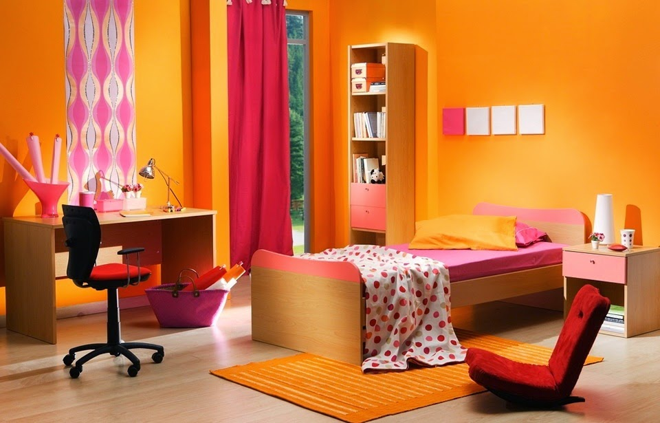 Dormitorios juveniles dormitorio naranja for Dormitorio naranja