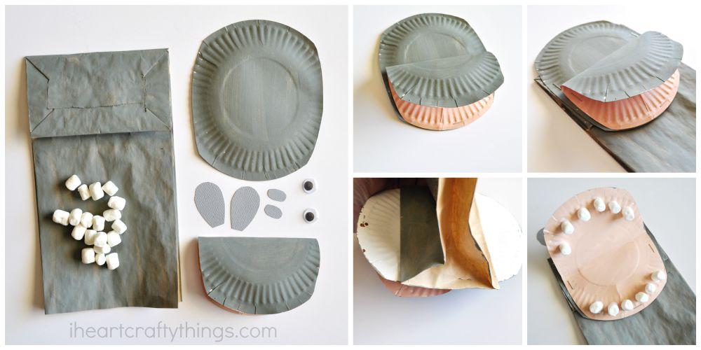 Directions & Paper Bag Hippopotamus Kids Craft   I Heart Crafty Things