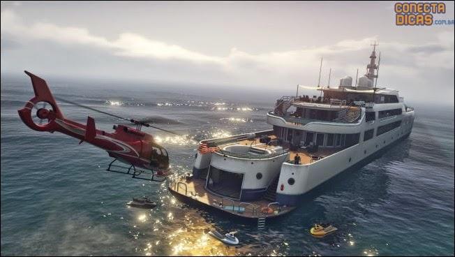 Heists GTA V - Navio e Helicoptero