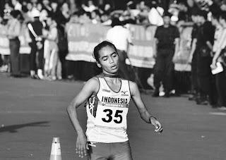 Pelari putri nasional dari Jawa Tengah Trianingsih