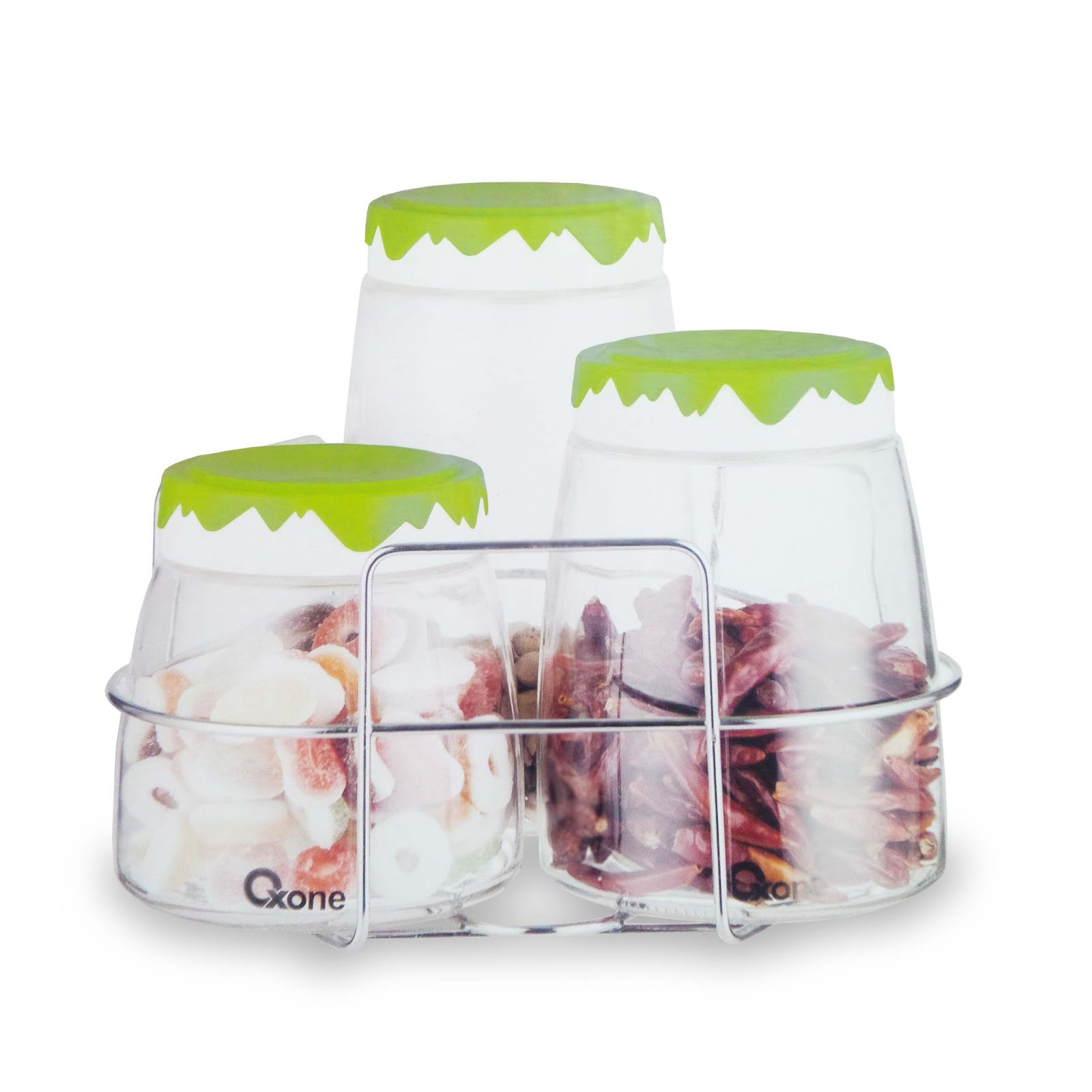 OX-404R Snowy Jars with Rack Oxone