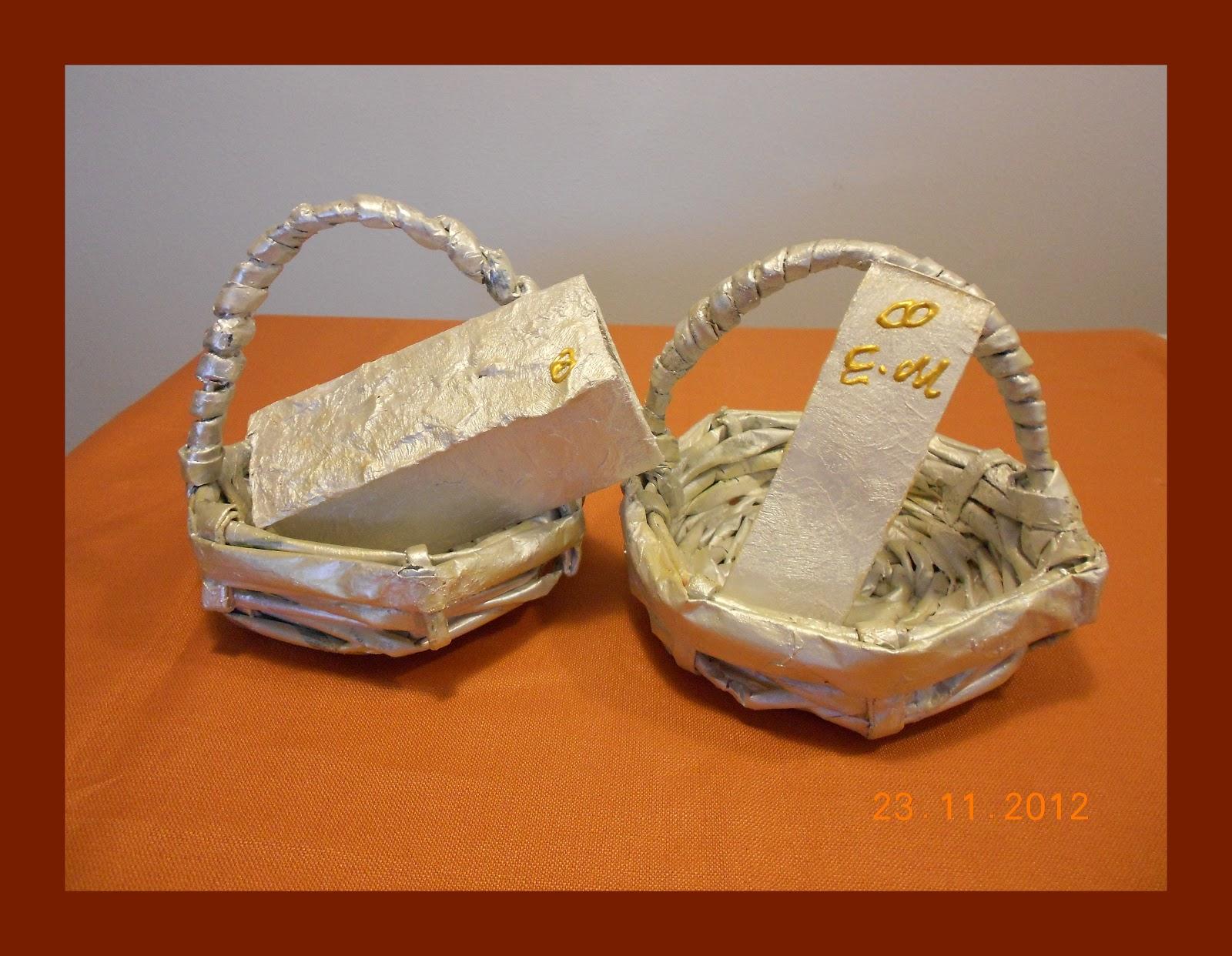 Decora con rosa cestas para boda