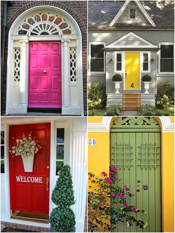 portas de entrada coloridas