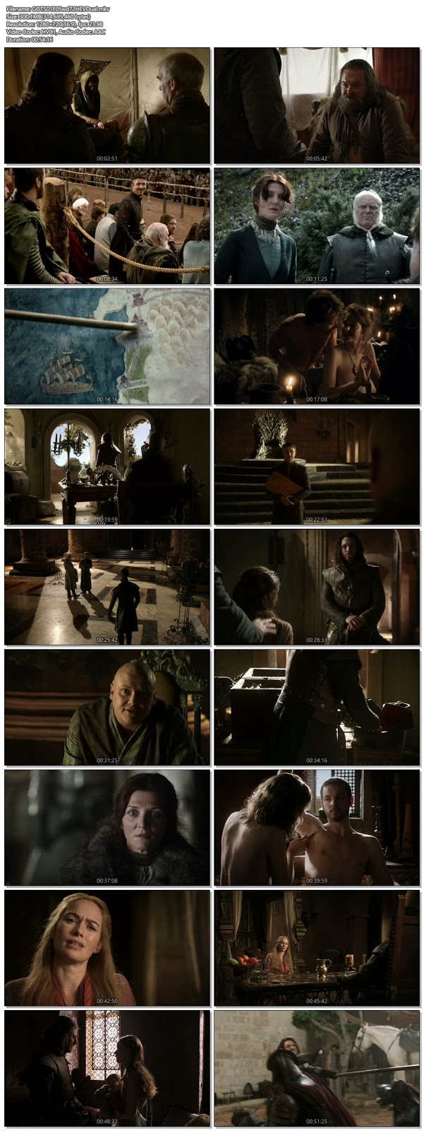 Screenshots Of Hindi Dubbed Show Game Of Thrones 2011 Season 01 Episode 05 300MB 720P HD