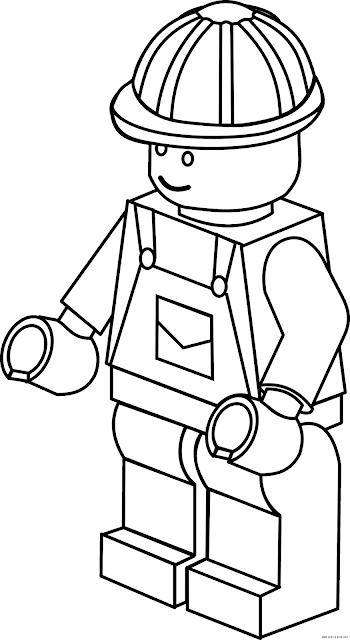 Desenho Trabalhador de Lego para colorir