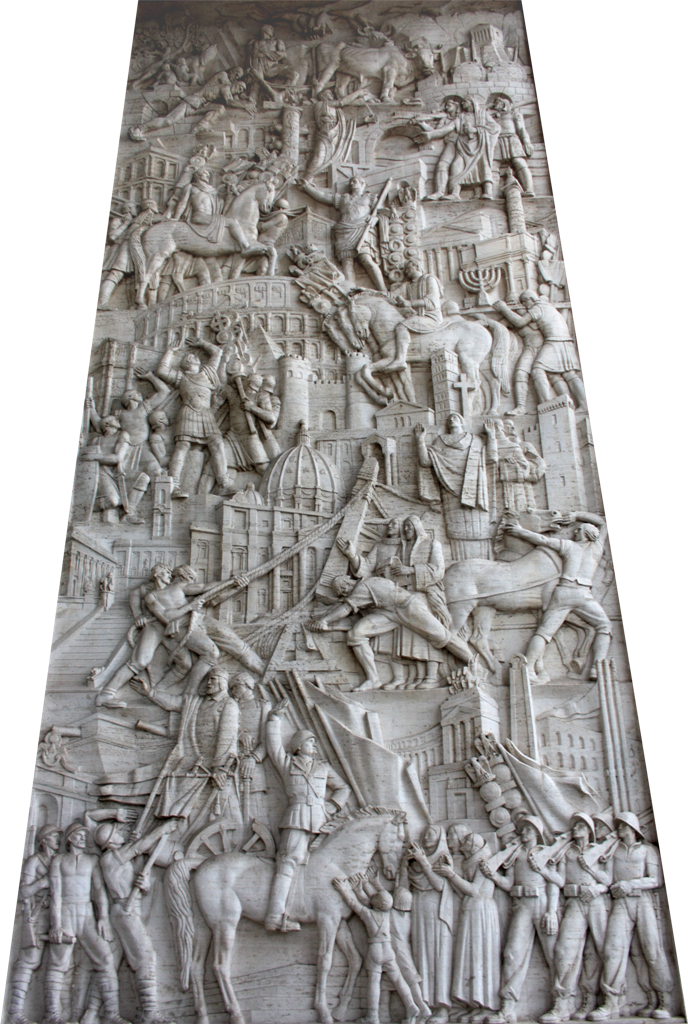 Immagina roma la storia di roma in un bassorilievo for Uffici eur roma