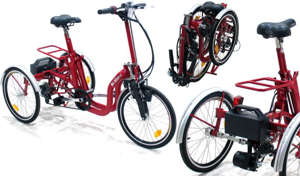 Rowery dla niepe nosprawnych sk adany rower tr jko owy z for Bicicletta per tre persone