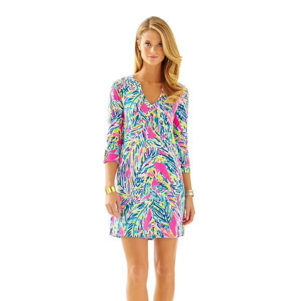 lilly pulitzer rossmore dress multi palm reader teacher appropriate wear to work school new