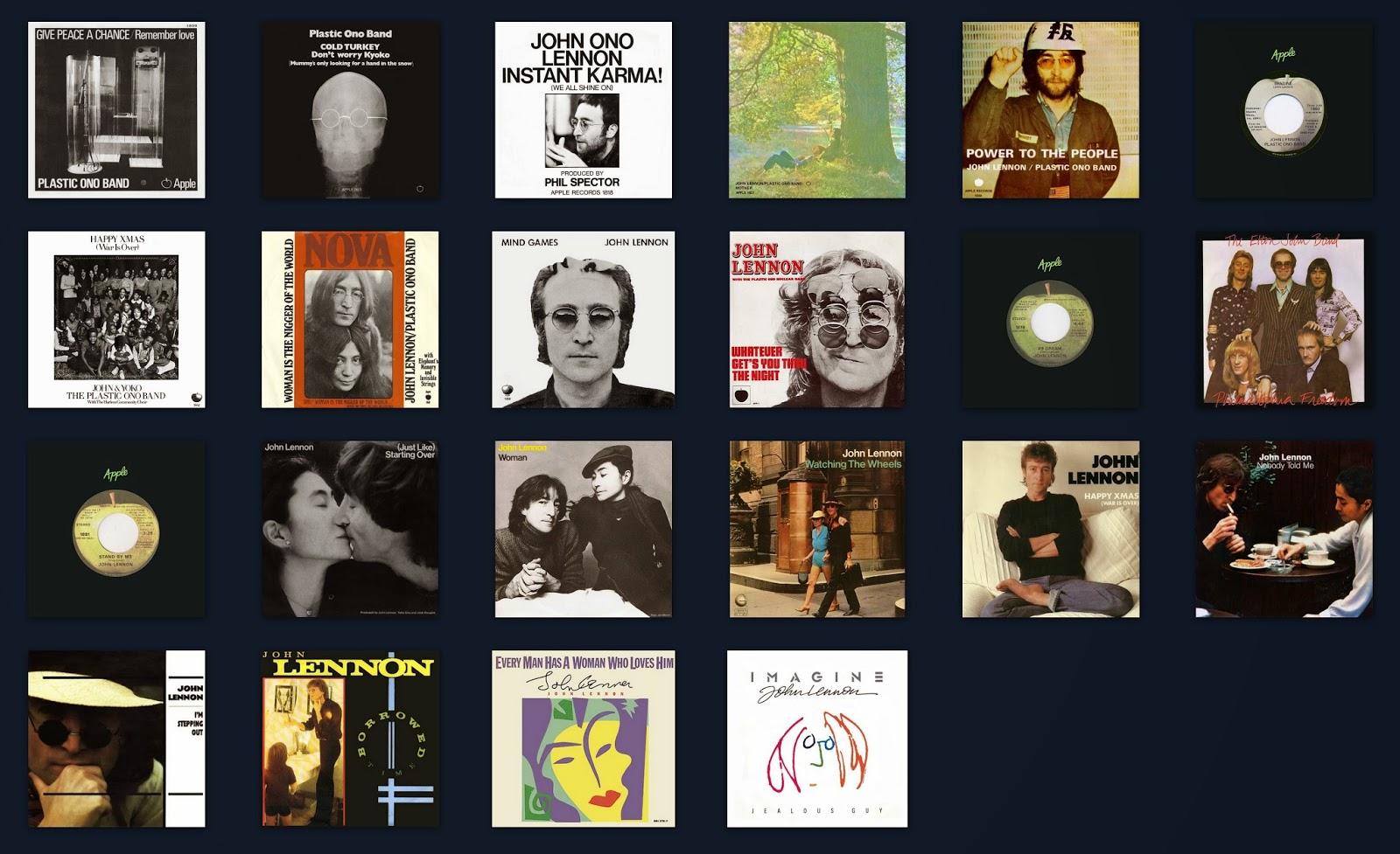The Beatles Illustrated UK Discography: John Lennon US Singles Chart ...