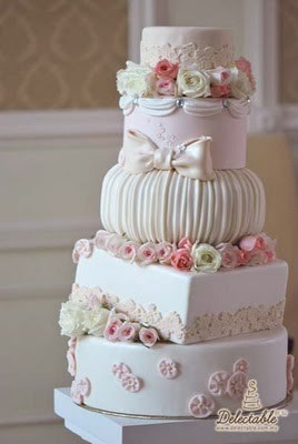 CRAZY ABOUT WEDDINGS: the cake to match your shabby chic wedding ...