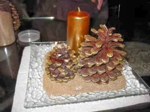 Centros de mesa de navidad con pi as parte 1 for Centros de mesa con pinas