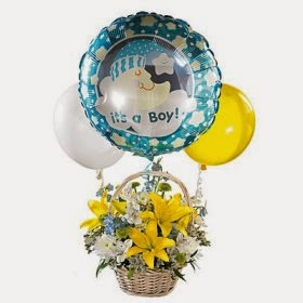 Flower & Baby ballon Basket Delivery in Argentina with price