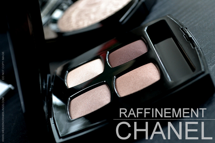 Printemps Precieux de Chanel Spring 2013 Makeup Collection Eyeshadow Les 4 Ombres Quadra Raffinement Indian Beauty Blog Reviews Swatches FOTD Brown Neutrals