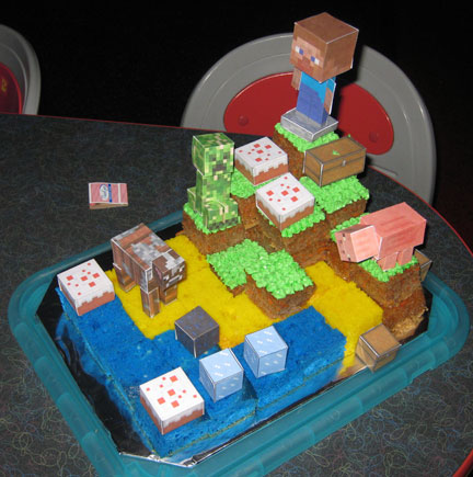 how to make minecraft cake decorations