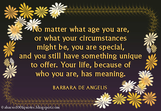 No matter what age you are or what your circumstances might be