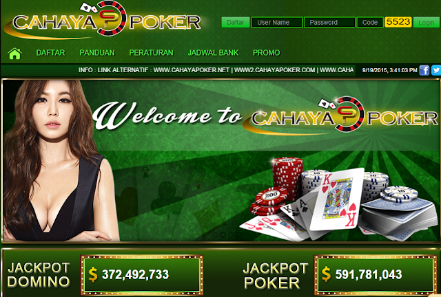 Cahayapoker.com agen poker dan domino online uang asli indonesia