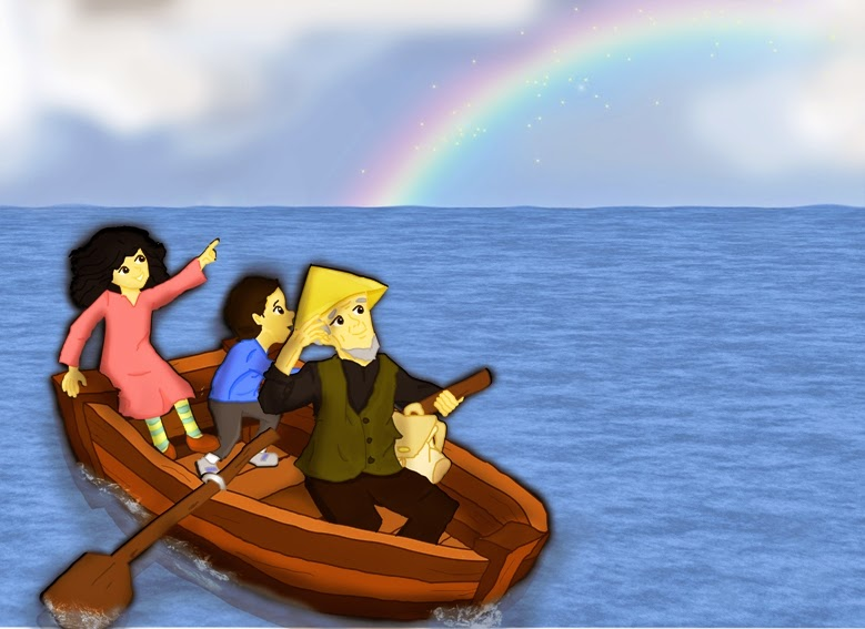 boat-sail-sea-rainbow-cartoon