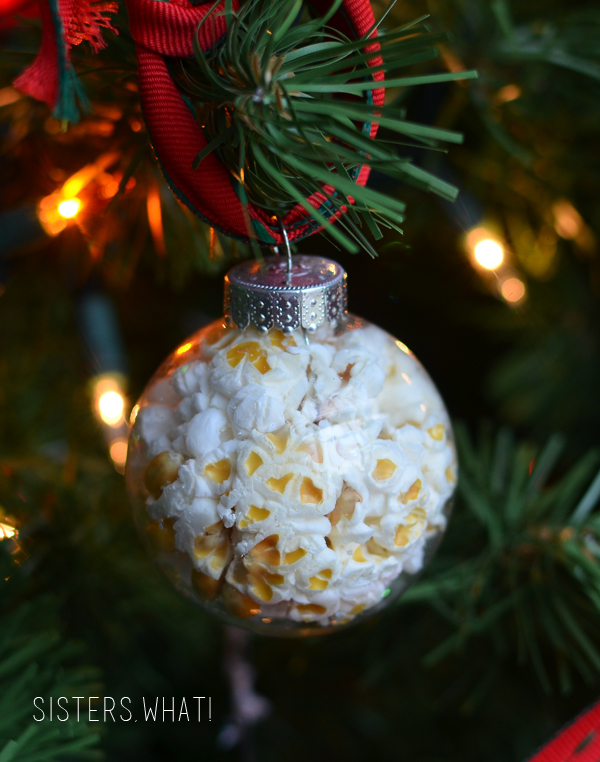 Popcorn In a Ball Christmas Ornament - Sisters, What!
