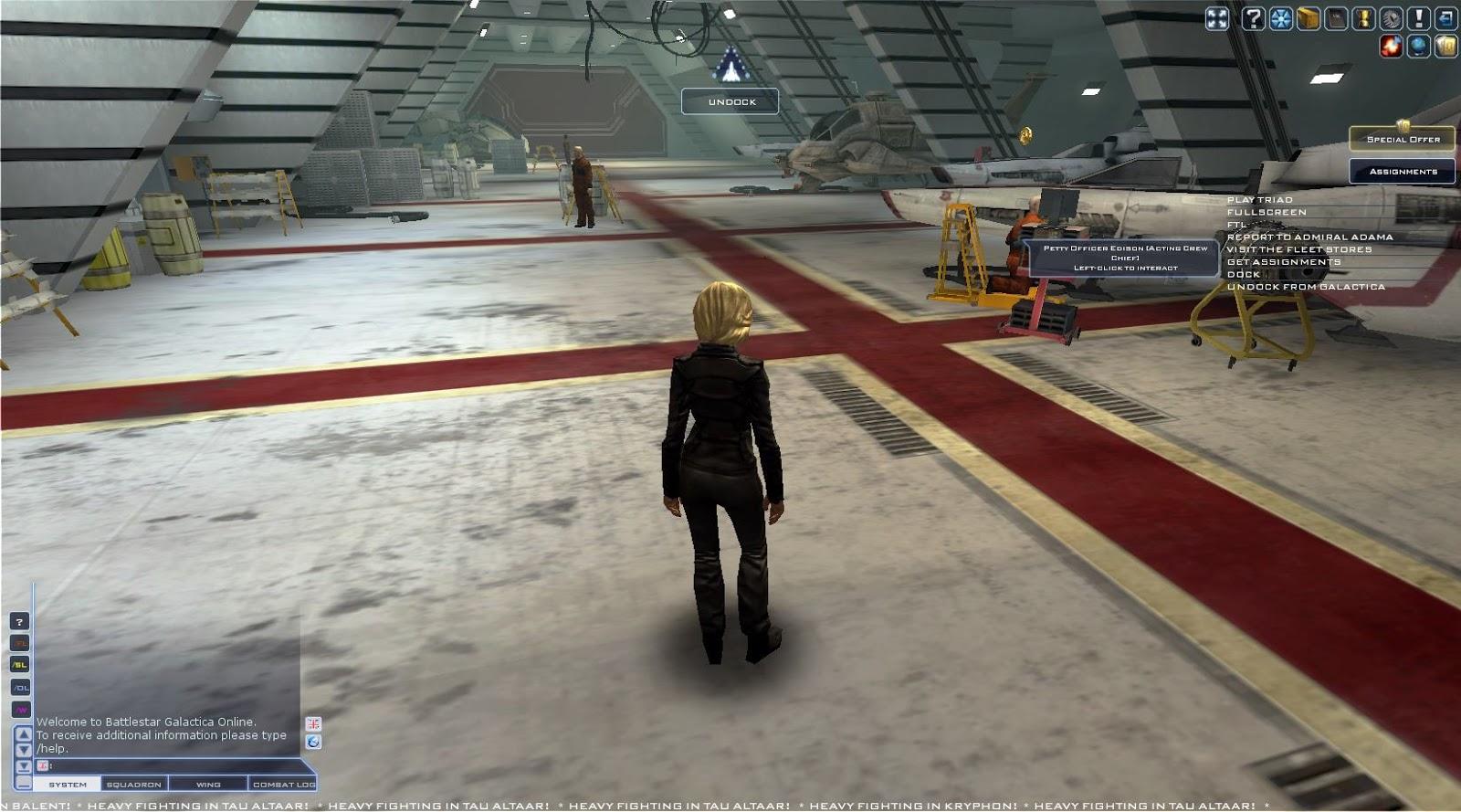 Battlestar Galactica Online - Hangar Deck