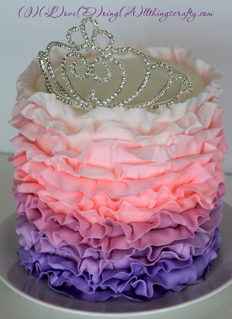 Ombre Princess Cake with crown