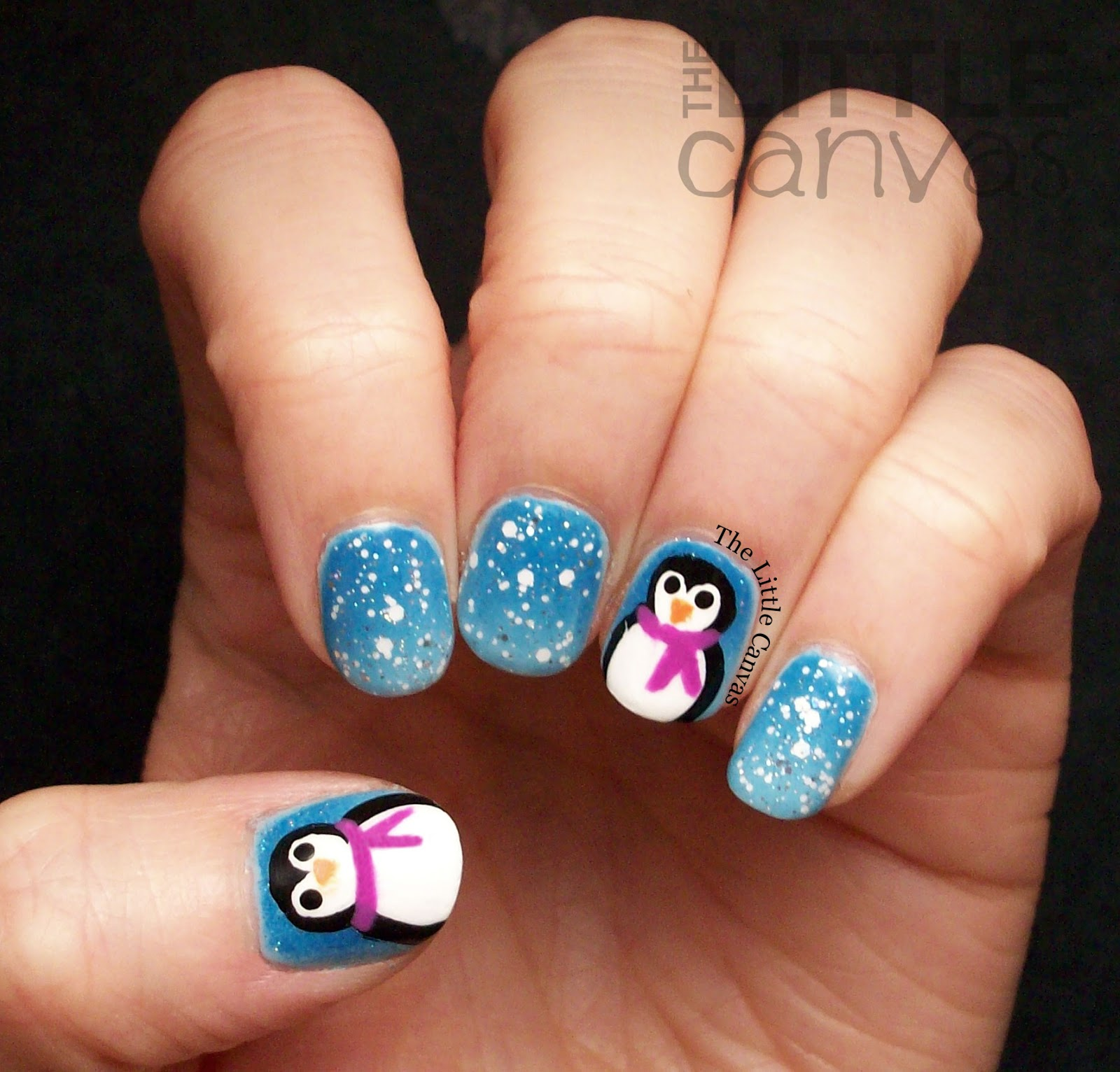 Penguin Nail Art Designs: The First Snowy Manicure Of The Season
