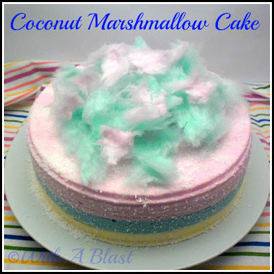 With A Blast: Coconut Marshmallow Cake {no baking or cooking!}  #cake #sweets