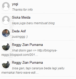 membuat widget recent comment with thumbnail