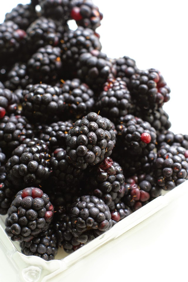 Fresh  blackberries for parfaits!