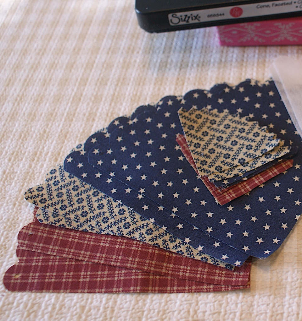 how to use sizzix big shot to cut fabric