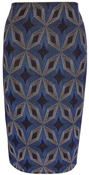 Falda de tubo con estampado diamante de Primark
