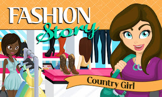 Screenshots of the Fashion Story: Country Girl for Android tablet, phone.