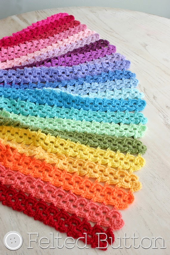 Pansy Parade Blanket Crochet Pattern by Susan Carlson of Felted Button