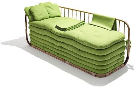 Sofa convertible en cama muebles de bambu for Muebles convertibles en cama