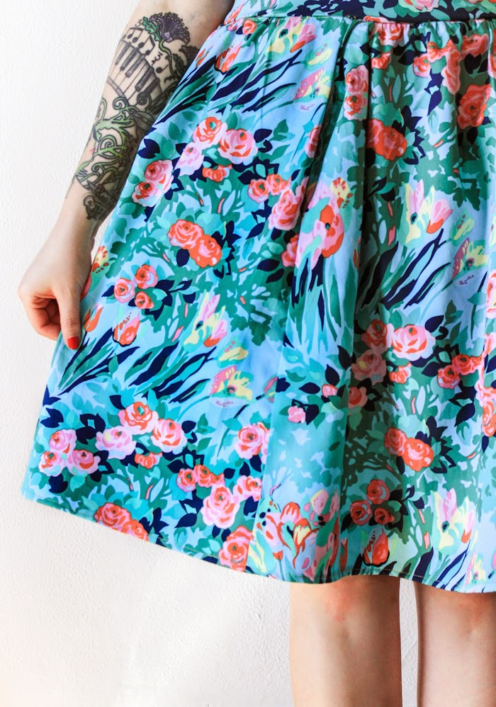 sewing skirt and pockets tutorial