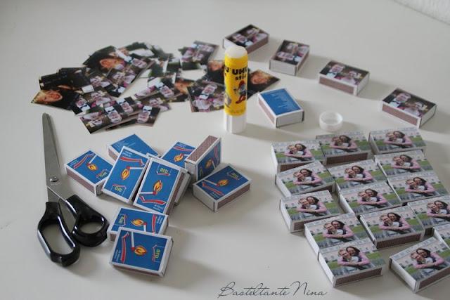 Basteltante nina streichholzschachteln mit foto - Streichholzschachteln hochzeit ...