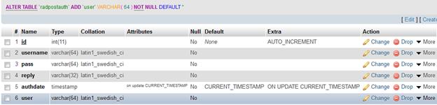 phpmyprepaid - Error, due, no user column
