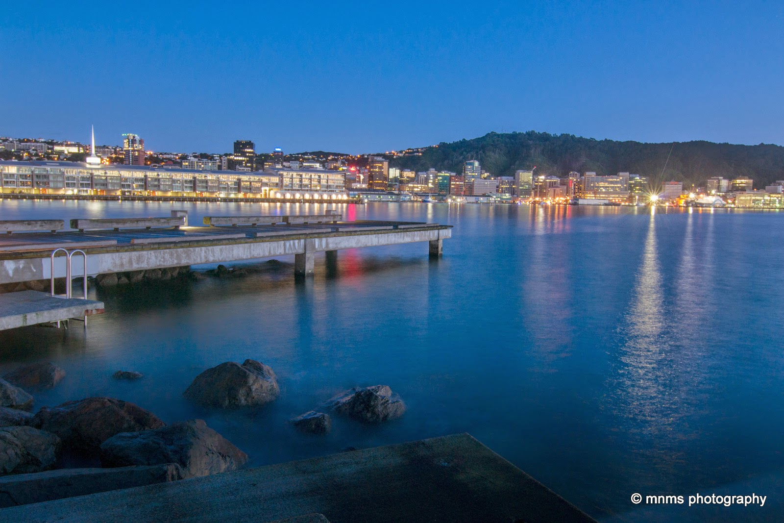 Long exposure Wellington Harbour