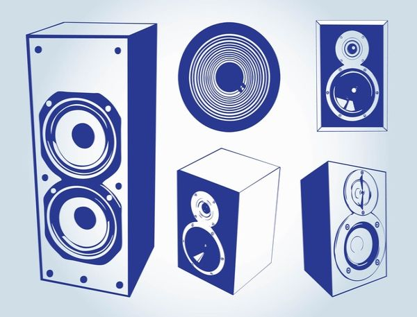 Free Vector Music Speakers Graphics