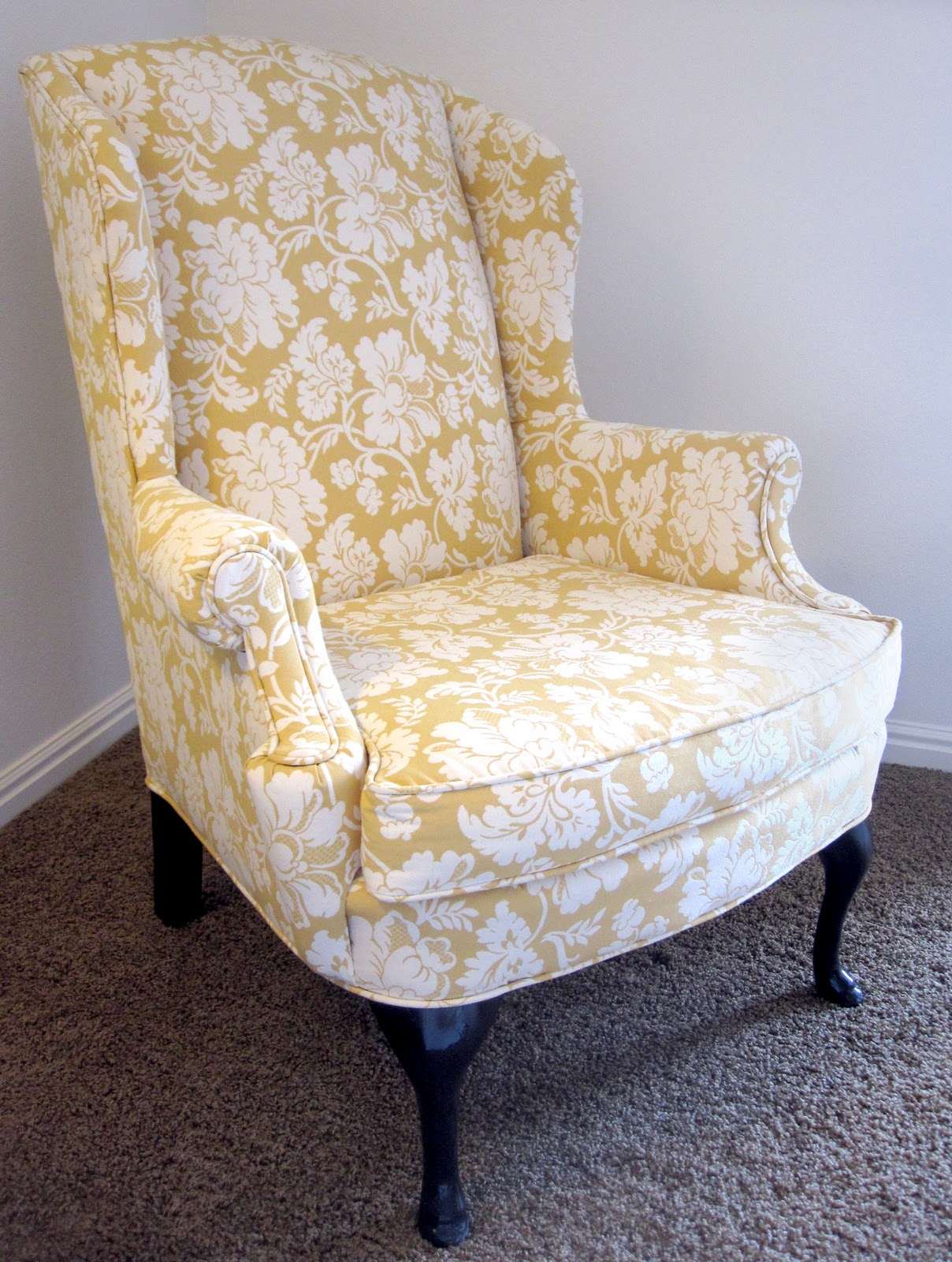 All Things Campbell Diy Torture I E Reupholstering A Wingback Chair Part 1