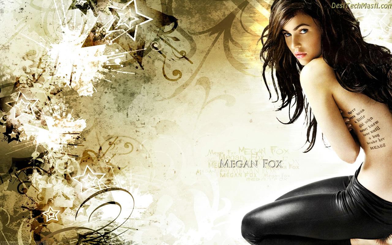 New Hollywood Style Megan Fox Wallpaper