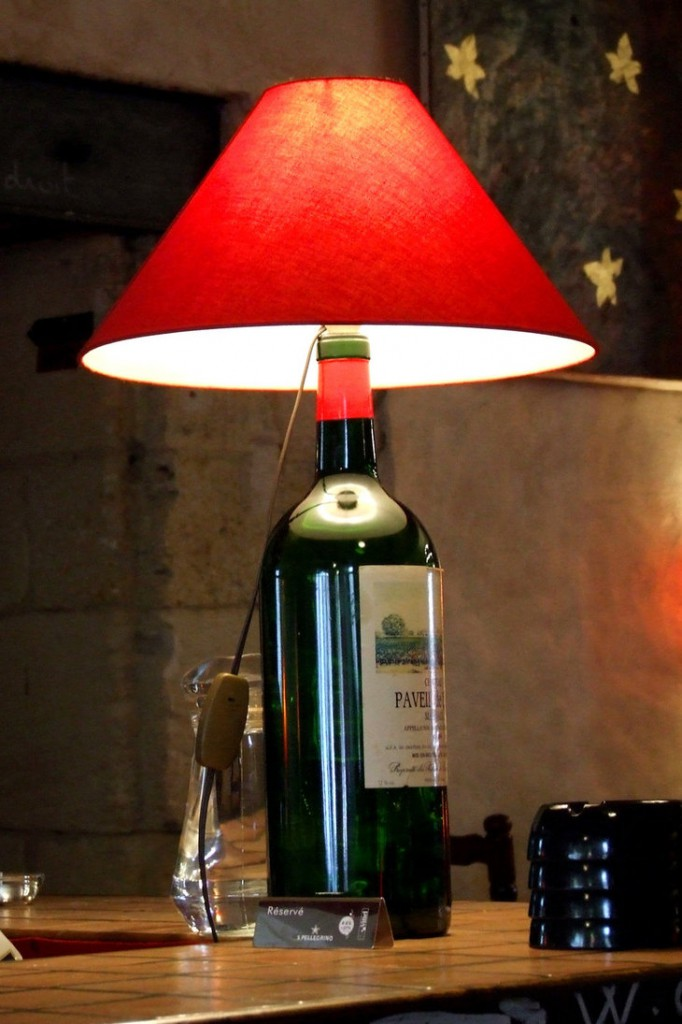 Лампу своими руками из бутылки
