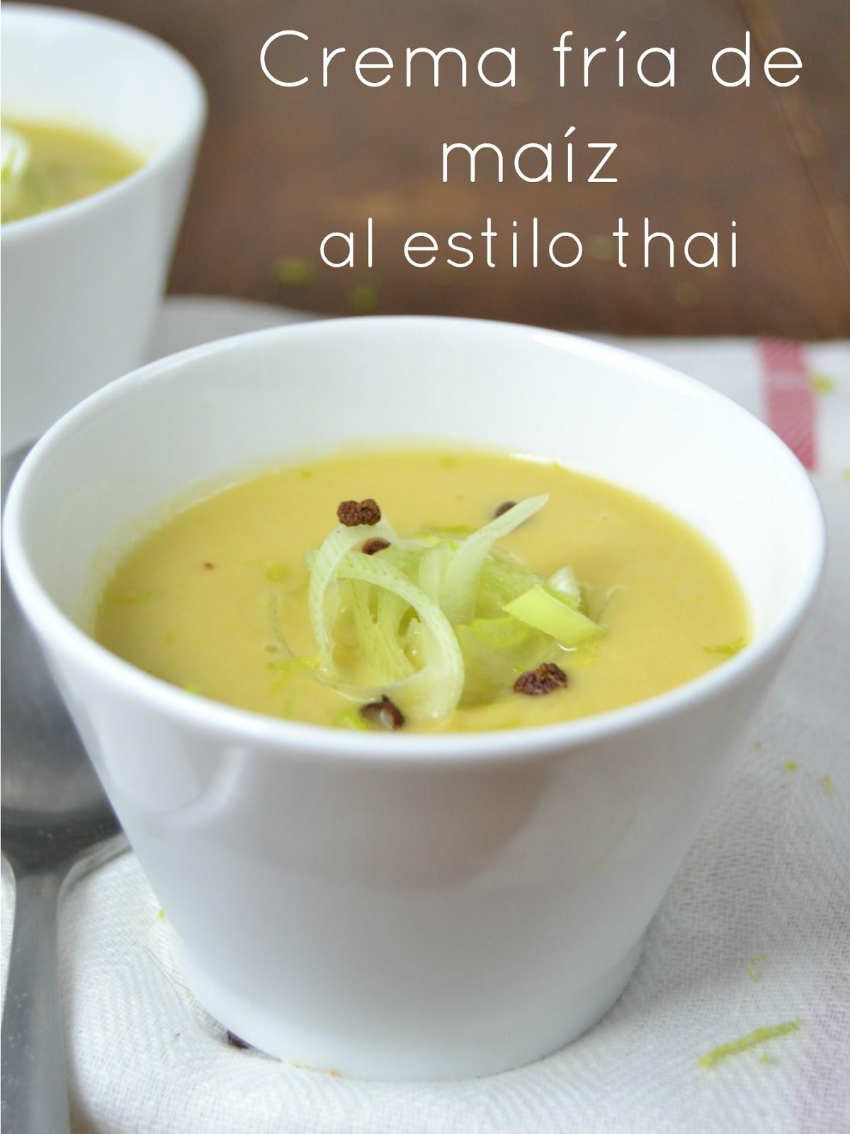 Crema fría de maíz al estilo thai | Cuuking! Recetas de cocina