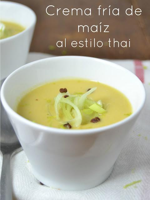 Crema fría de maíz al estilo thai