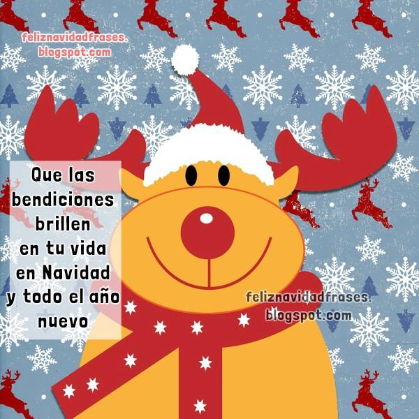 Feliz navidad frases tarjeta con imagen de navidad y a o - Mensajes bonitos de navidad y ano nuevo ...