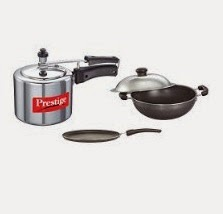 Flat 50% off on Prestige Omega Cookware Sets