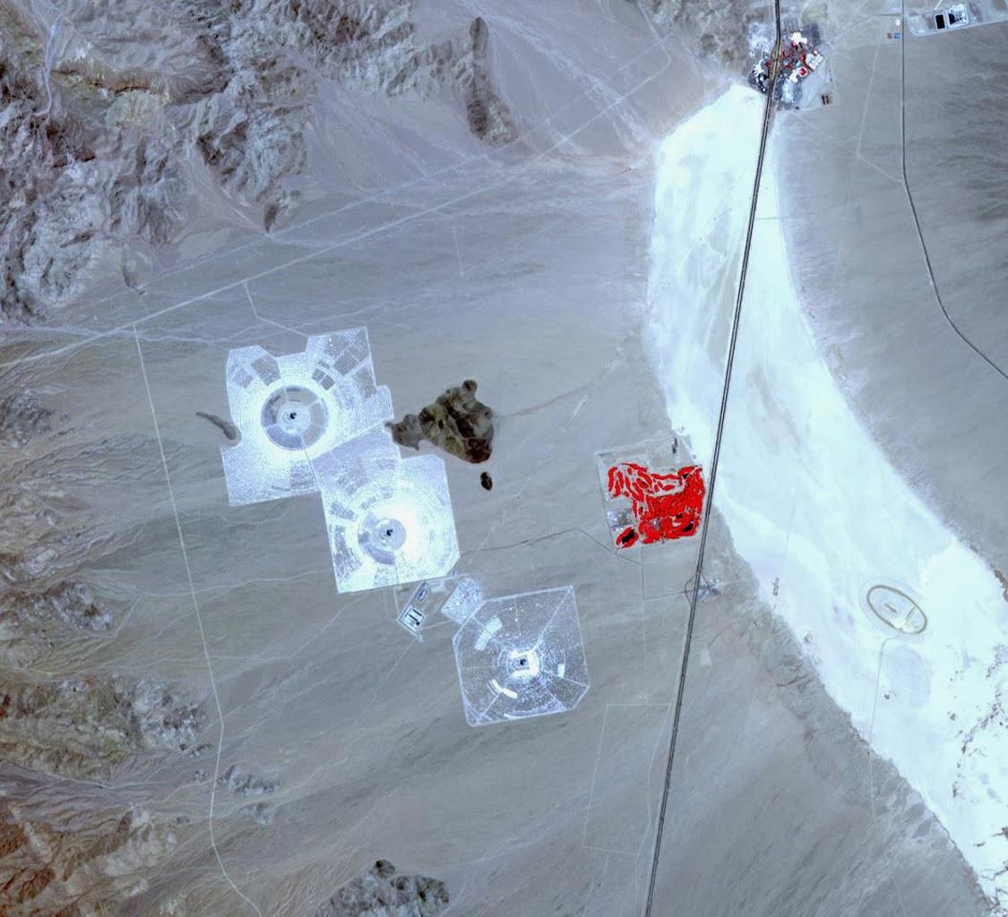 NASA: Ivanpah Solar Energy Plant, Mojave Desert.