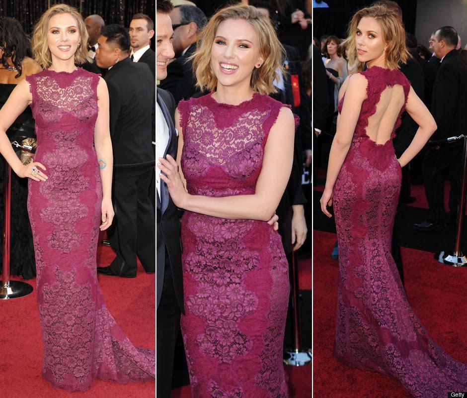scarlett johansson hair 2011 oscars. Scarlett Johansson Oscars 2011