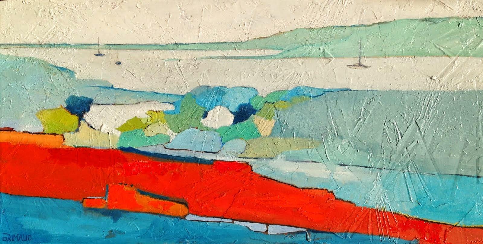 Composition bleue (80x40)